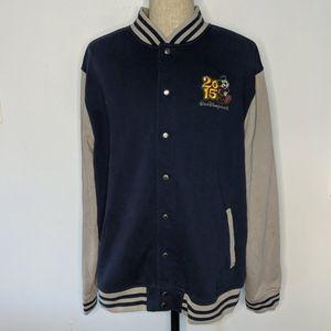 Disney Parks Varsity Sweatshirt Snap Button Jacket